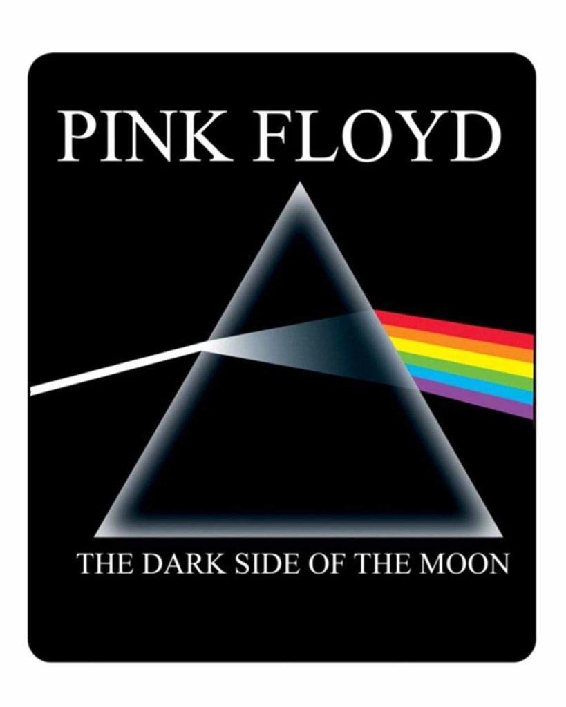Pink Floyd Dark Side of the Moon album cover fleece blanket